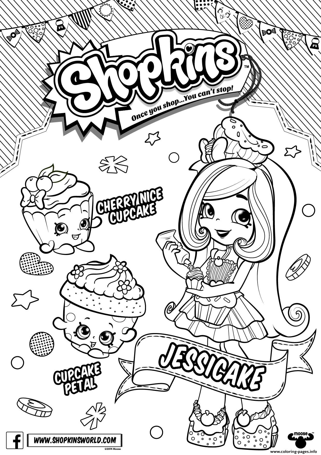 Jessicake Shopkins Shoppies Coloring Pages Printable