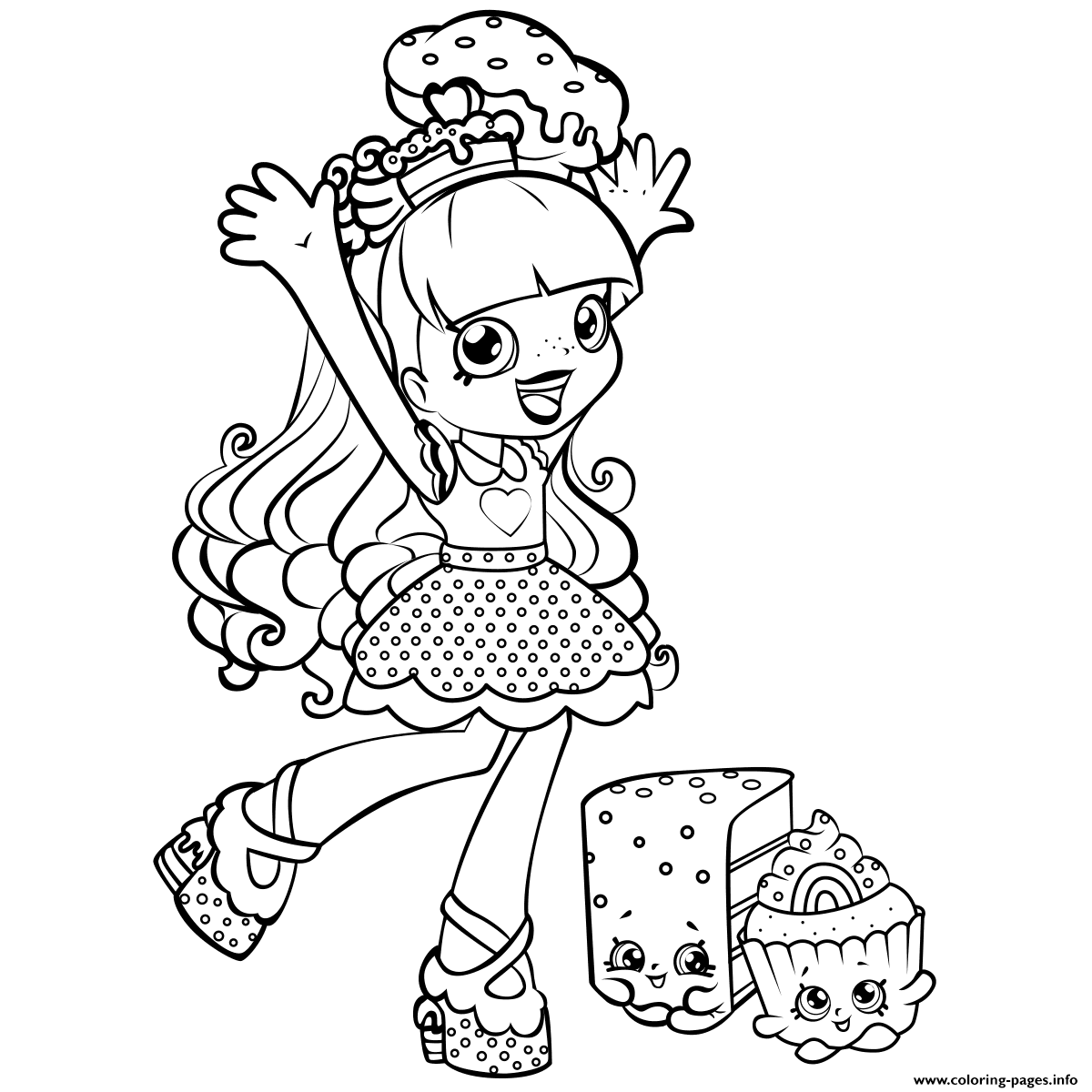 Shopkins color sheets - Shopkins Shoppie Is Happy Cupecake Colouring Print Shopkins Shoppie Is Happy Cupecake Coloring Pages