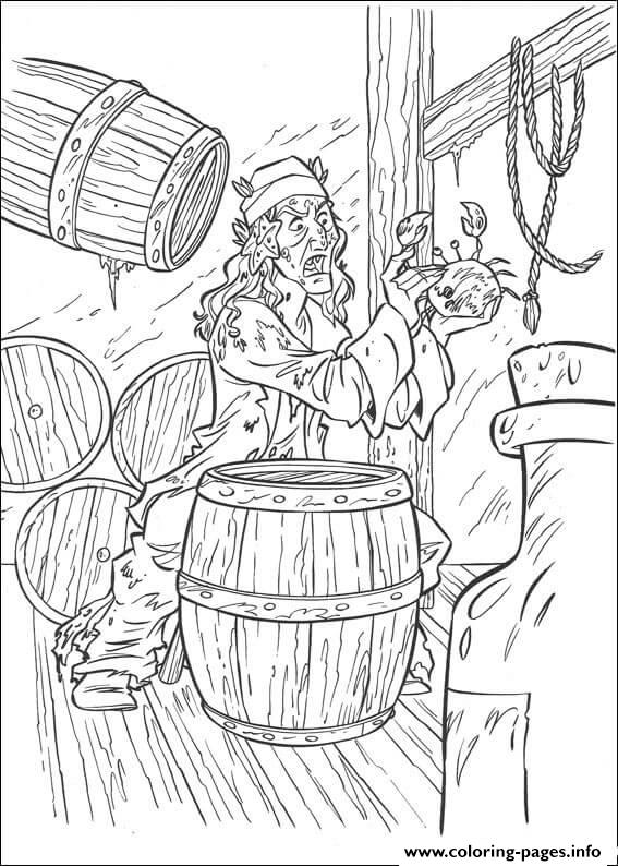 He Catches A Crab Pirates Of The Caribbean coloring pages