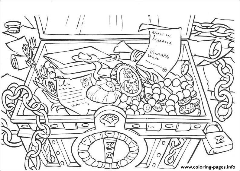 The Treasure Pirates Of The Caribbean Coloring Pages Printable