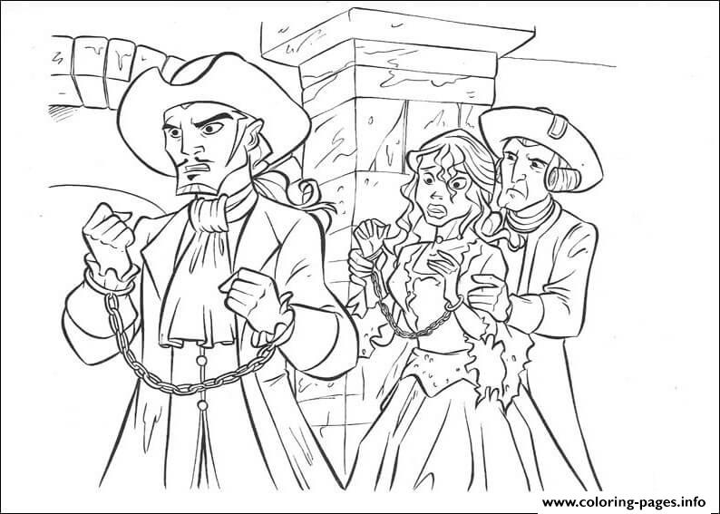 colouring print princess has captured pirates of the caribbean coloring pages