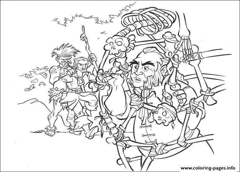 The pirates captured pirates of the caribbean coloring for Coloring pages of pirates of the caribbean