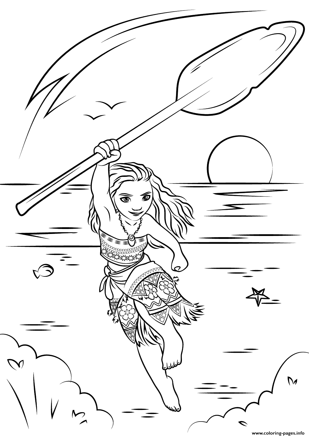 Moana Disney Coloring Pages Print Download 389 Prints