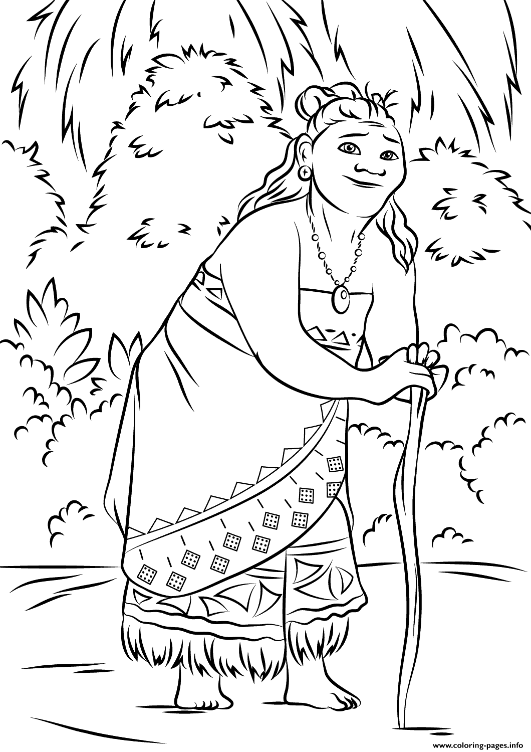 Gramma Tala From Moana Disney  coloring pages