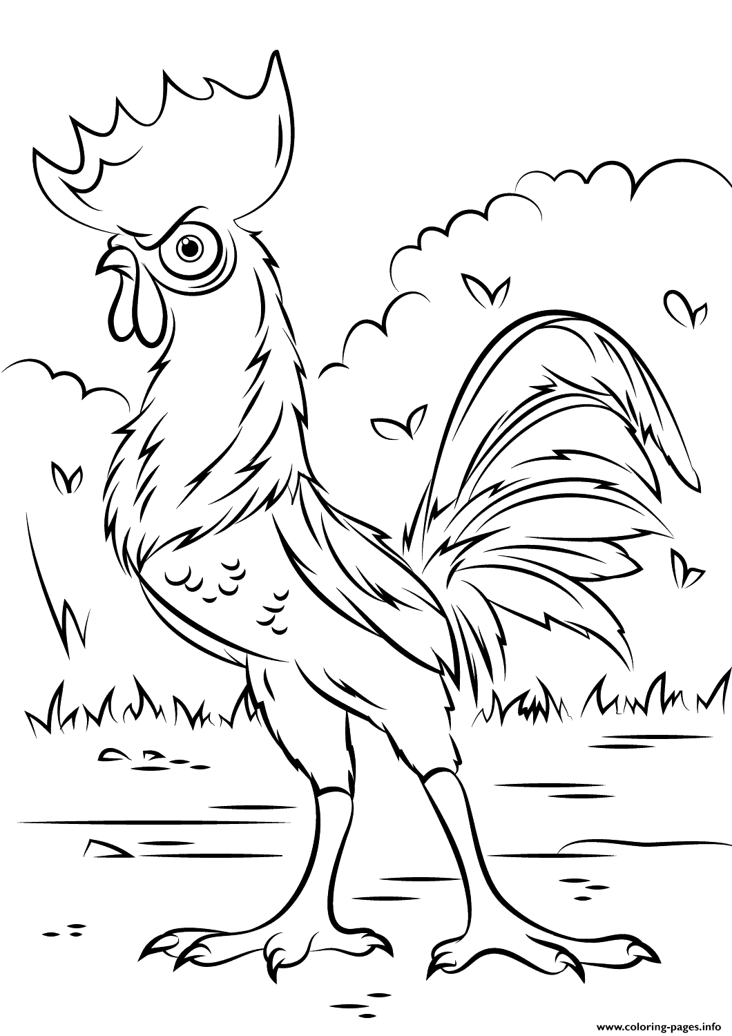 Heihei Rooster From Moana Disney  coloring pages