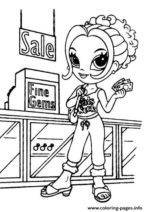 Lisa Frank For Kids Buy Gems coloring pages