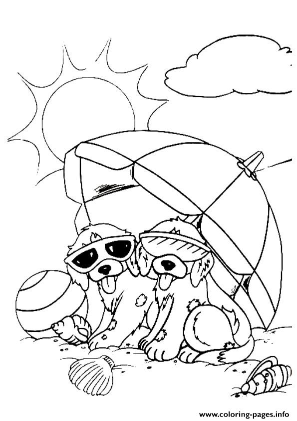 Puppies Spotty And Dotty A4 coloring pages