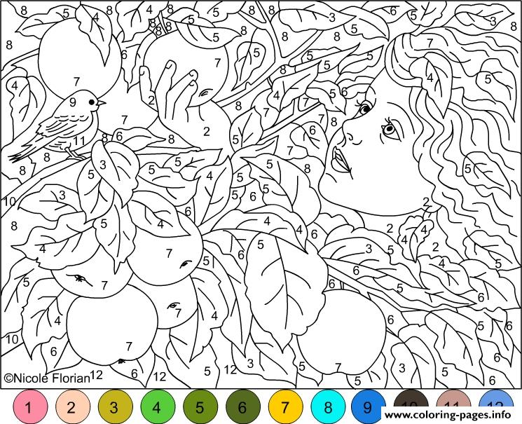 Difficult coloring pages with numbers az coloring pages