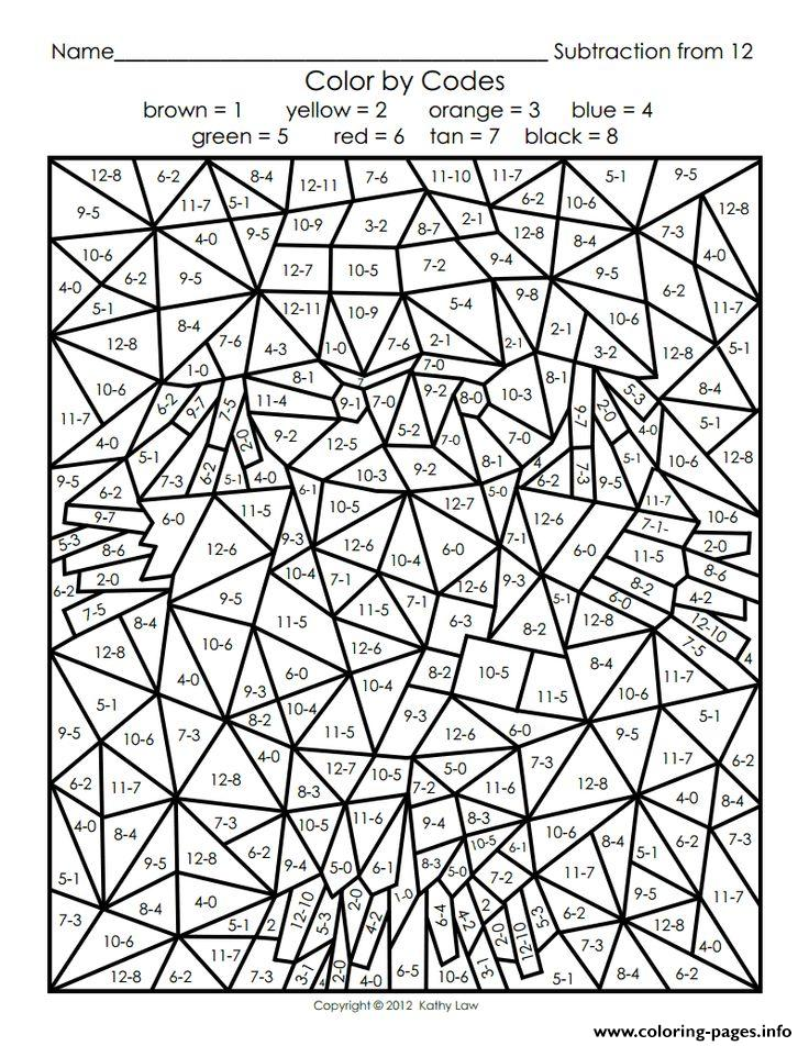 Printable Color By Number For Adults Coloring Pages