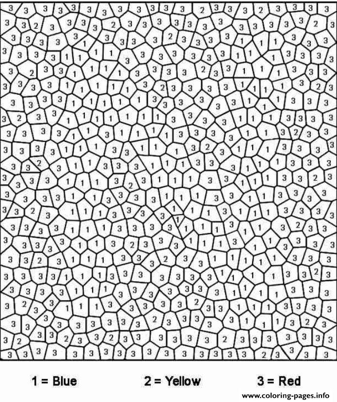 really difficult color by number for adults Coloring pages Printable