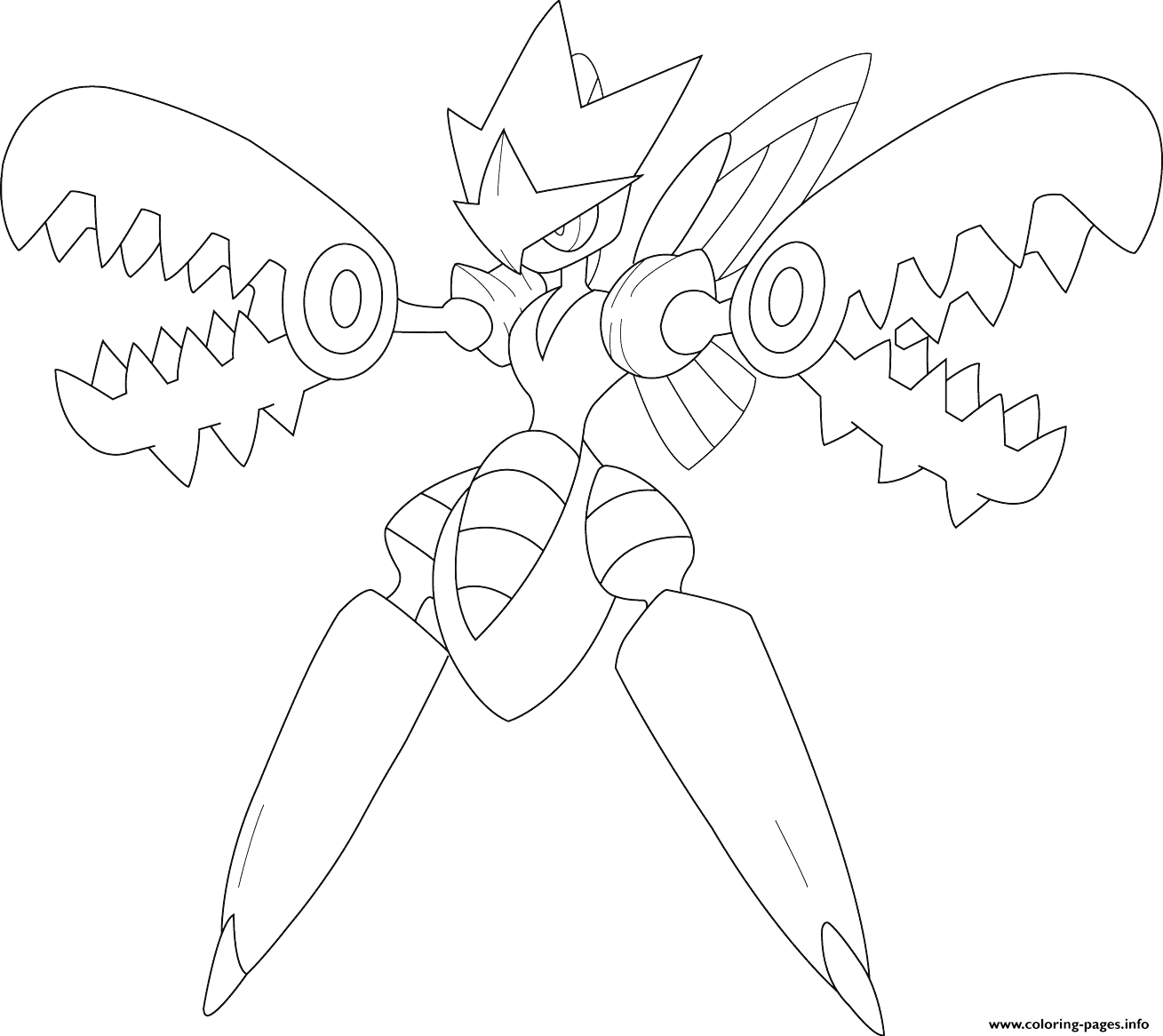 Mega Scizor Pokemon Coloring Pages