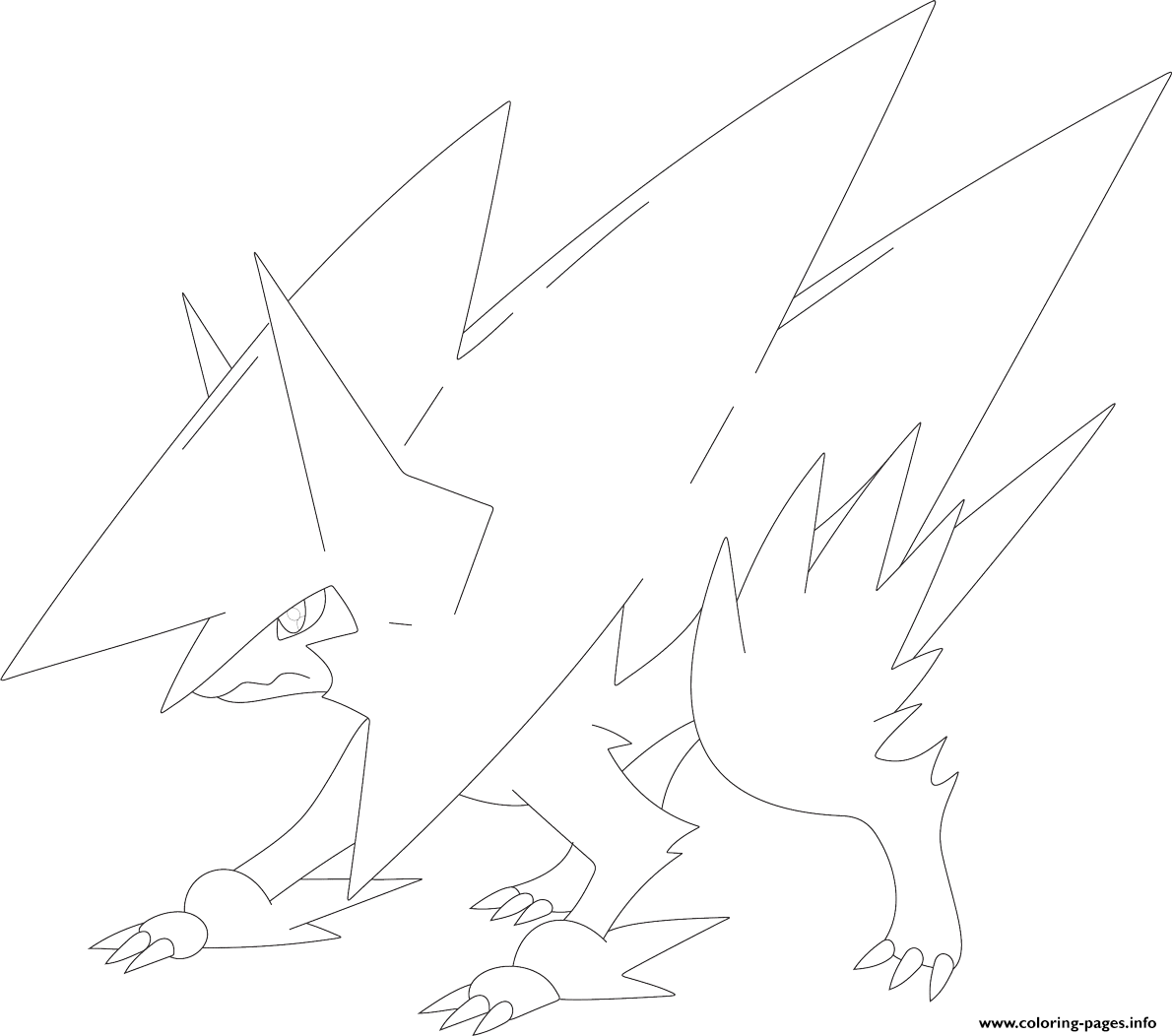 mega pokemon manectric coloring pages