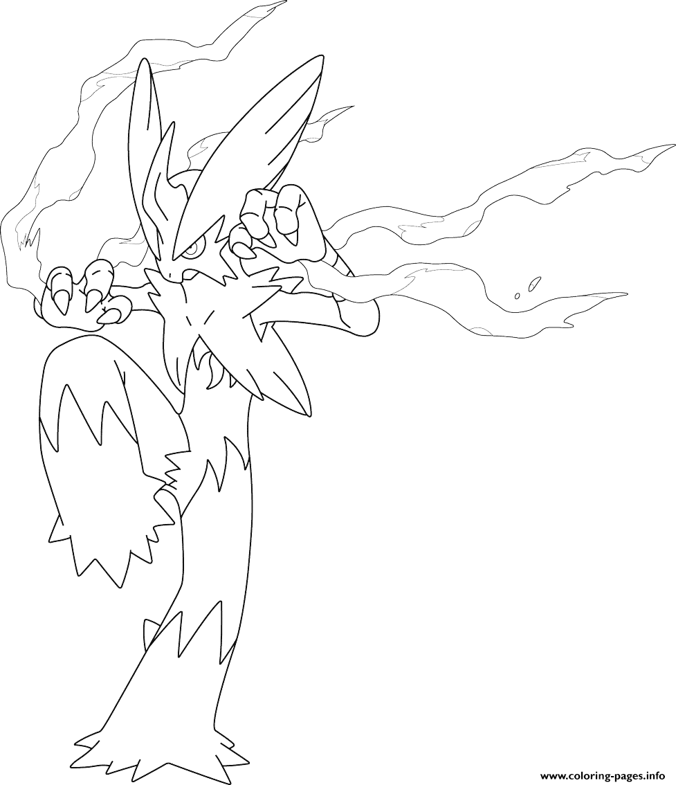 mega blaziken pokemon coloring pages printable