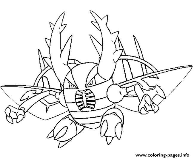 mega evolved pokemon mega pinsir coloring pages printable