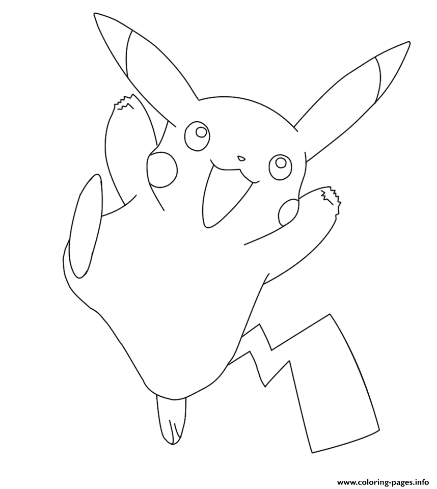 pikachu pokemon coloring pages printable