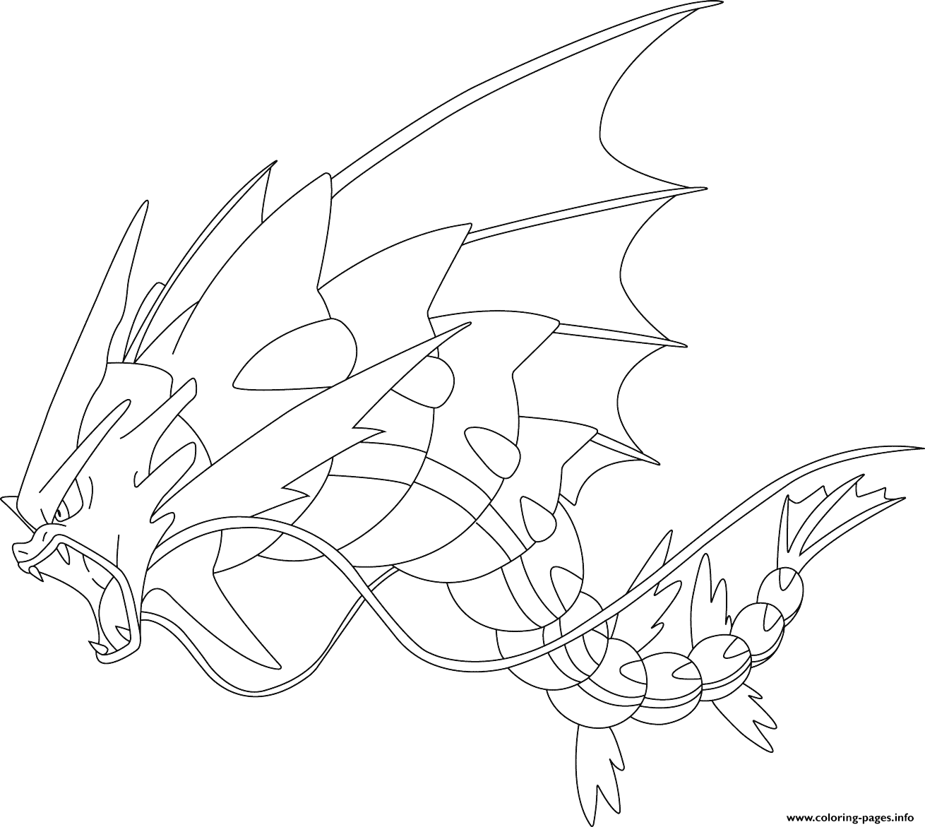 Mega Gyarados Pokemon Coloring Pages Printable Mega Coloring Pages