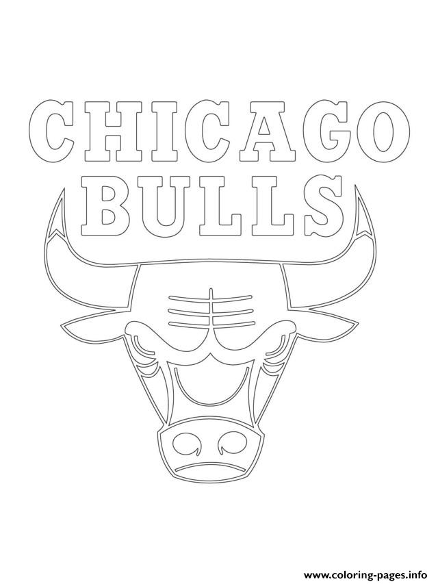 Chicago bulls logo nba sport coloring pages printable for Chicago bulls coloring pages