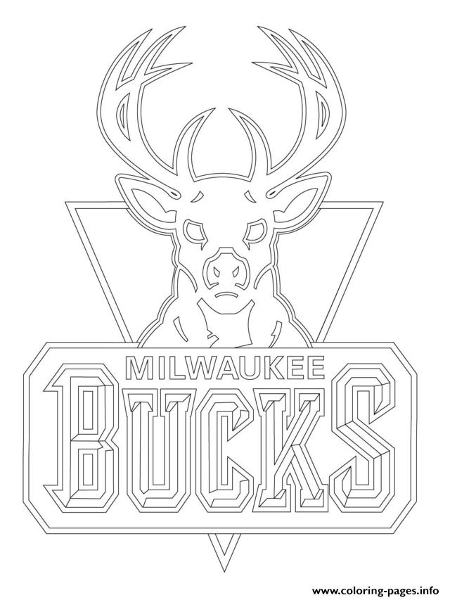 Milwaukee Bucks Logo Nba Sport Coloring Pages