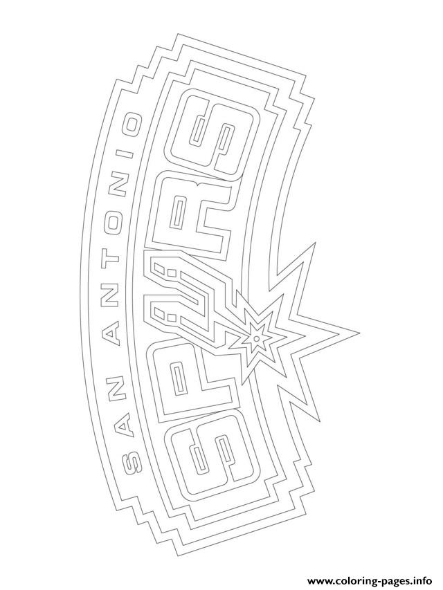 Funky Nba Coloring Pages Spurs Adornment