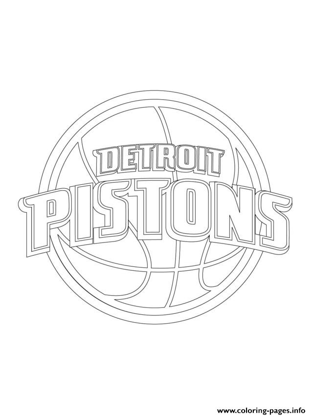 Detroit Pistons Logo Nba Sport coloring pages