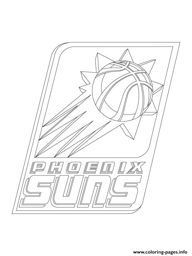 Phoenix Suns Logo Nba Sport Coloring Pages Printable