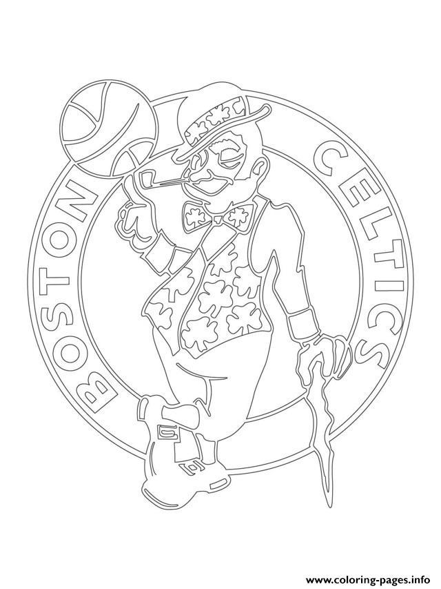 Boston Celtics Logo Nba Sport Coloring Pages