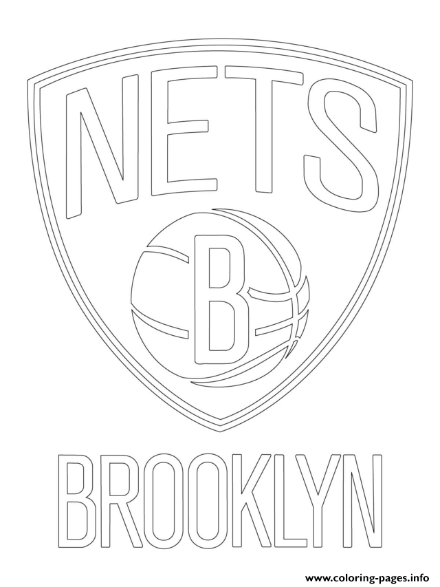Brooklyn Nets Logo Nba Sport Coloring Pages Printable