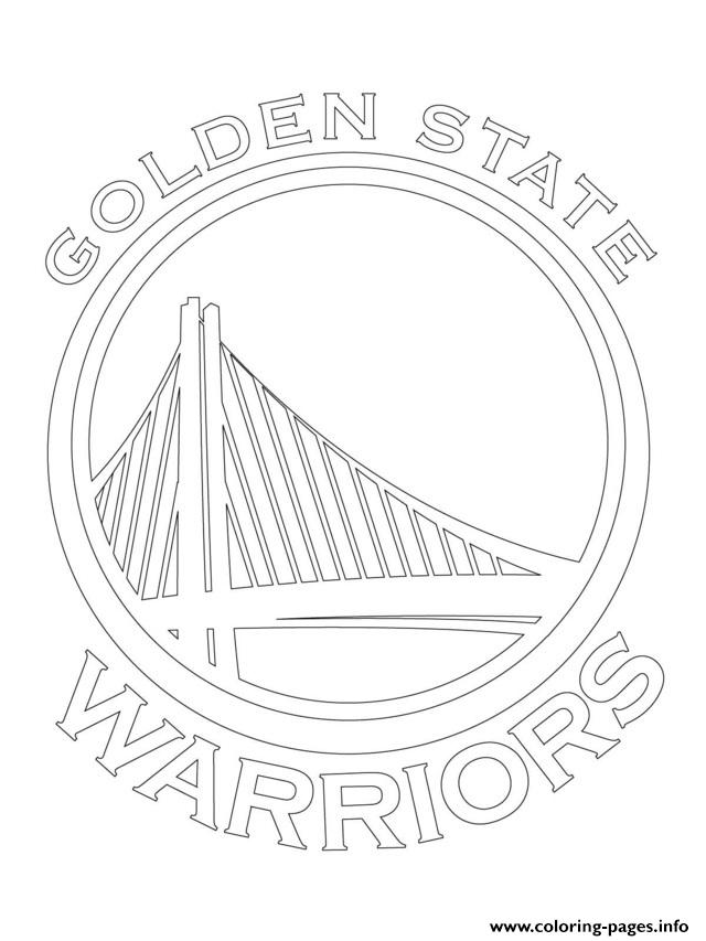 Golden State Warriors Logo Nba Sport Coloring Pages Printable