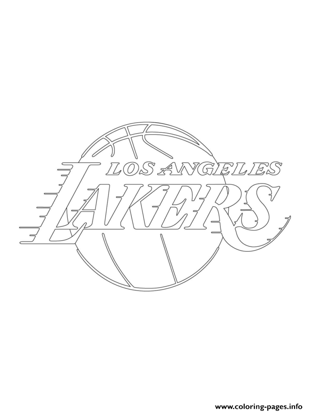 photo regarding Lakers Printable Schedule known as Los Angeles Lakers Symbol Nba Activity Coloring Webpages Printable