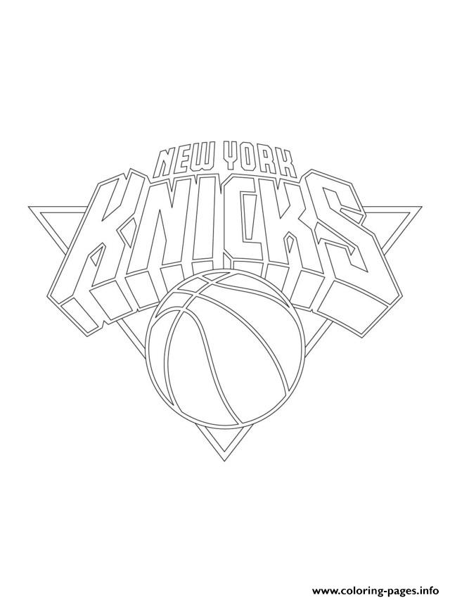 New York Knicks Logo Nba Sport Coloring Pages Printable