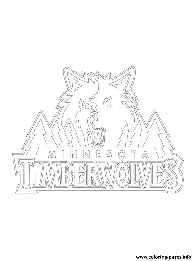 Minnesota Timberwolves Logo Nba Sport Coloring Pages Printable