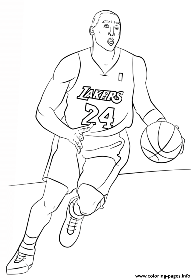 bryant nba sport coloring pages printable