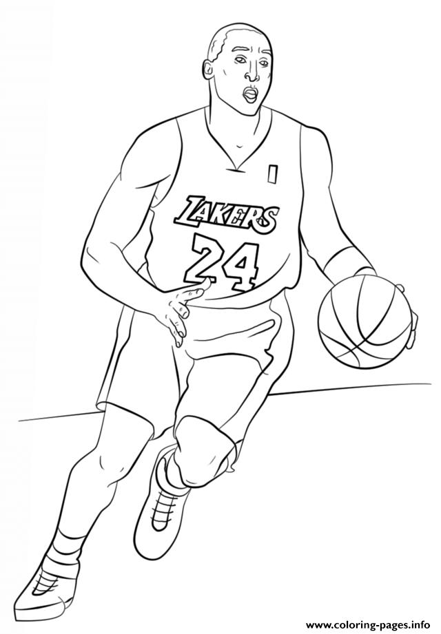 Kobe Bryant Nba Sport Coloring Pages Printable