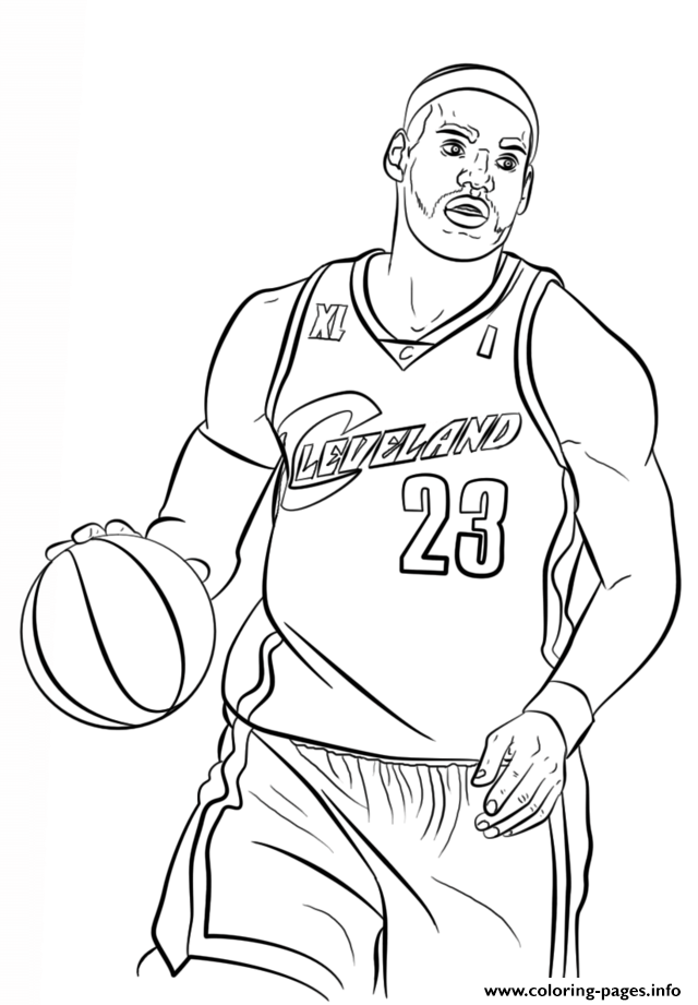 Lebron James Nba Sport coloring pages