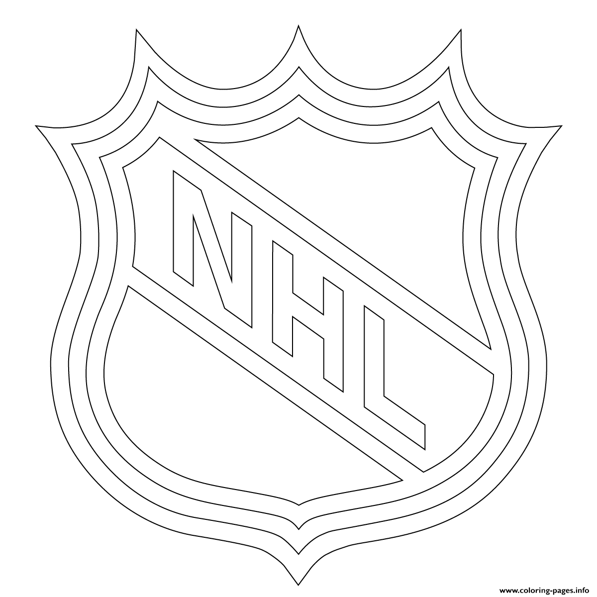 Nhl Logo Nhl Hockey Sport Coloring Pages Printable