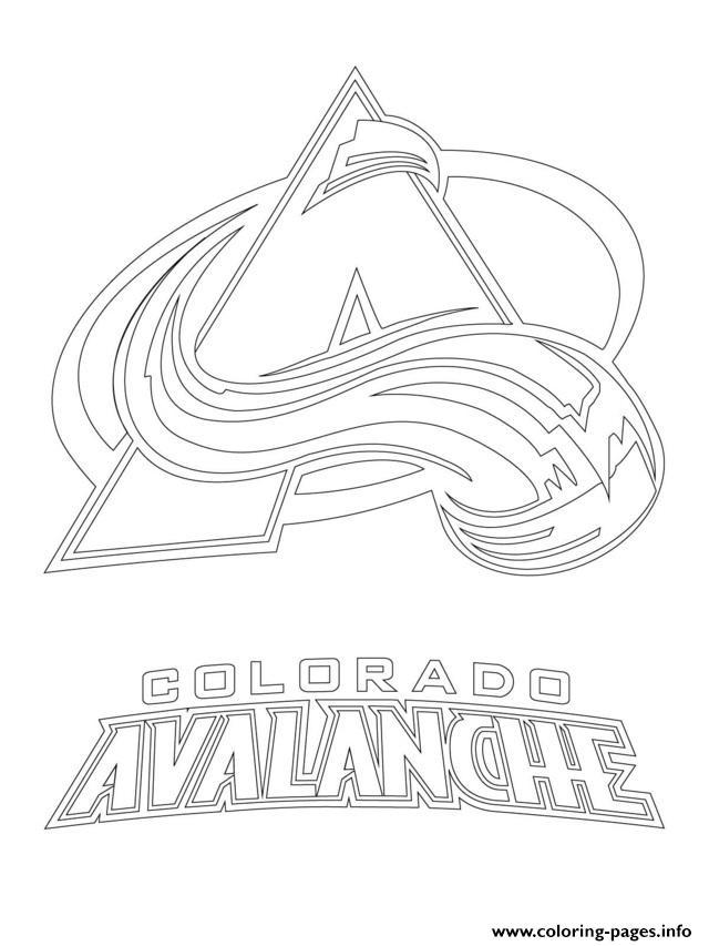 Colorado Avalanche Logo Nhl Hockey Sport1 Coloring Pages Printable