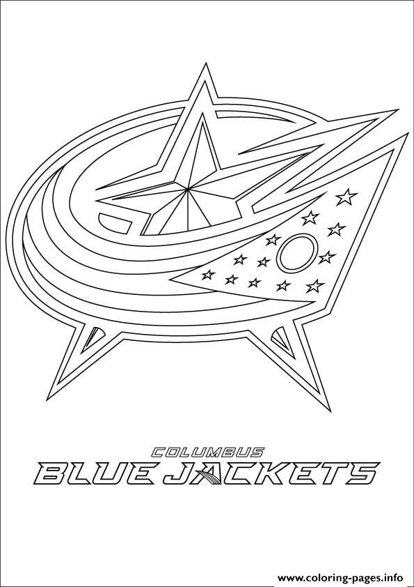Columbus Blue Jackets Logo Nhl Hockey Sport Coloring Pages Printable
