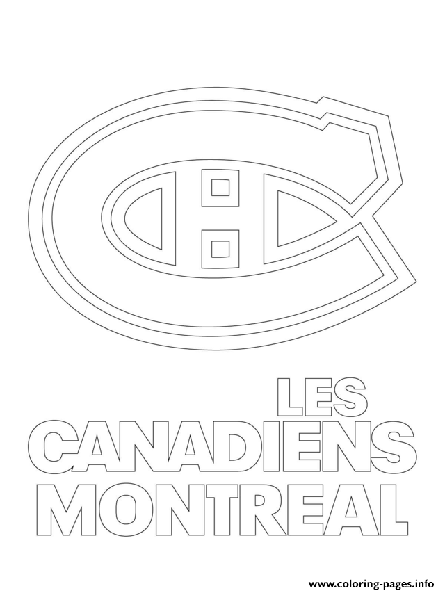 Montreal Canadiens Habs Logo Nhl Hockey Sport1 Coloring Pages Printable