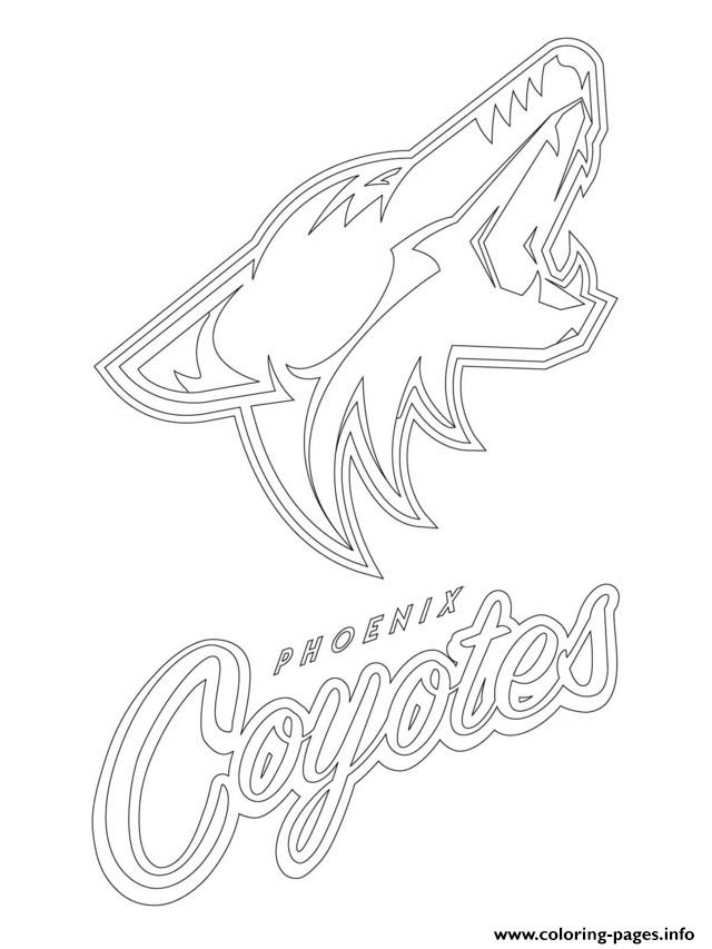 phoenix coyotes logo nhl hockey sport coloring pages
