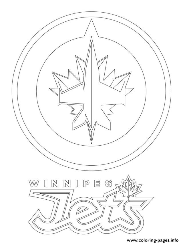 Winnipeg Jets Logo Nhl Hockey Sport Coloring Pages Printable