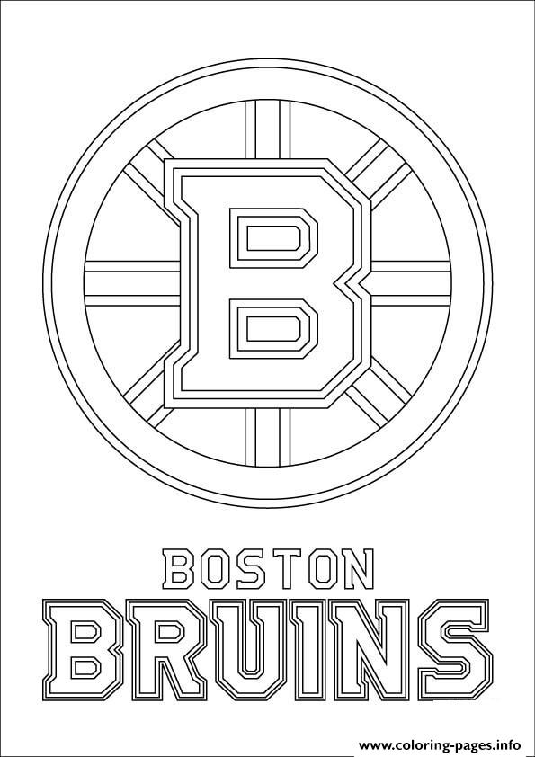 Boston Bruins Logo Nhl Hockey Sport Coloring Pages Printable