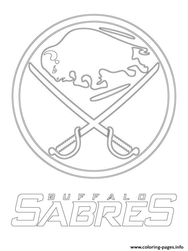 picture about Sabres Schedule Printable named Buffalo Sabres Emblem Nhl Hockey Game1 Coloring Internet pages Printable
