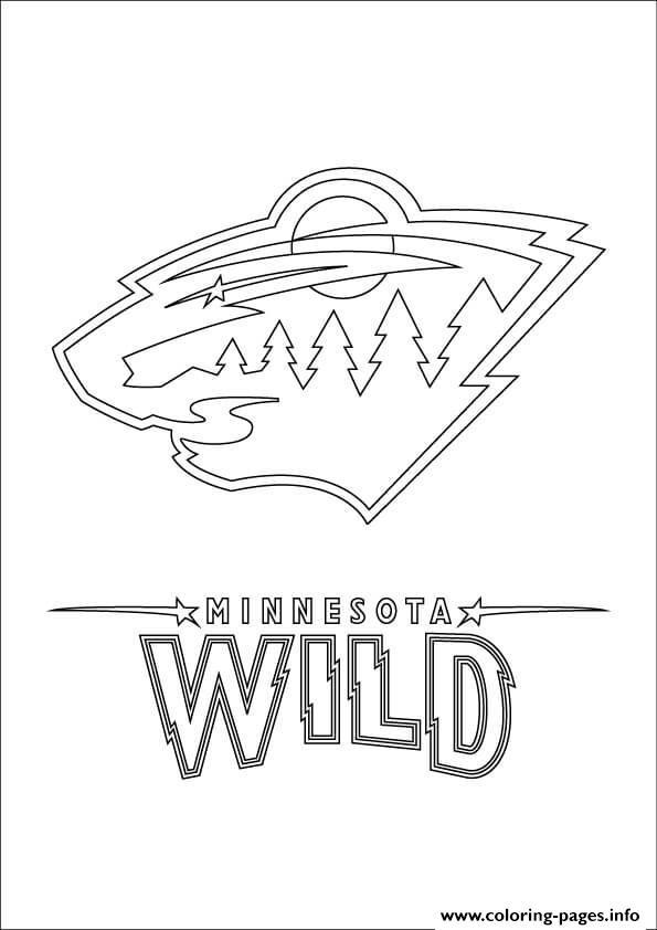 Minnesota Wild Logo Nhl Hockey Sport Coloring Pages Printable