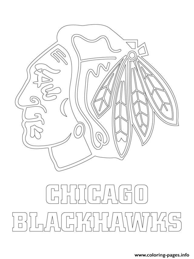 Chicago Blackhawks Logo Nhl Hockey Sport1 Coloring Pages Printable
