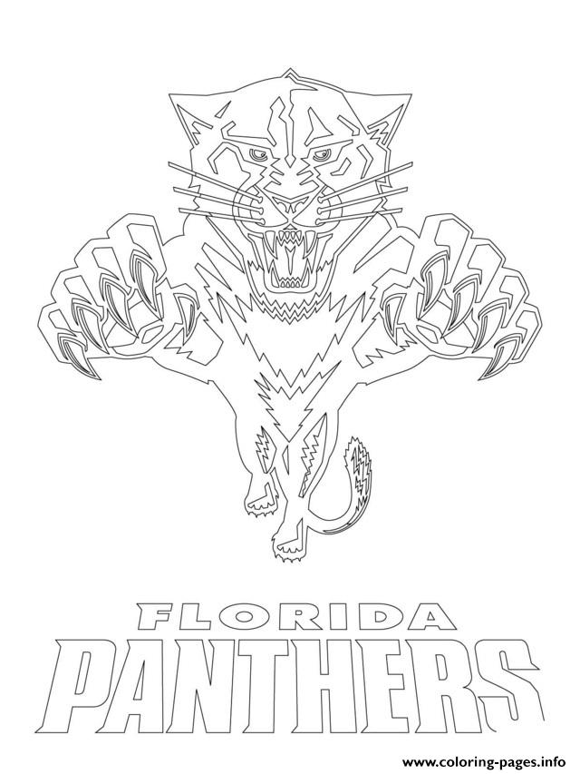 florida panthers logo nhl hockey sport Coloring pages Printable