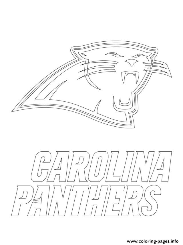 Carolina Panthers Logo Football Sport Coloring Pages Printable
