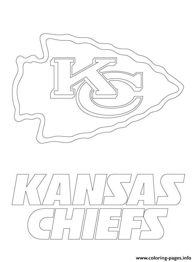 Kansas City Chiefs Logo Football Sport Coloring Pages