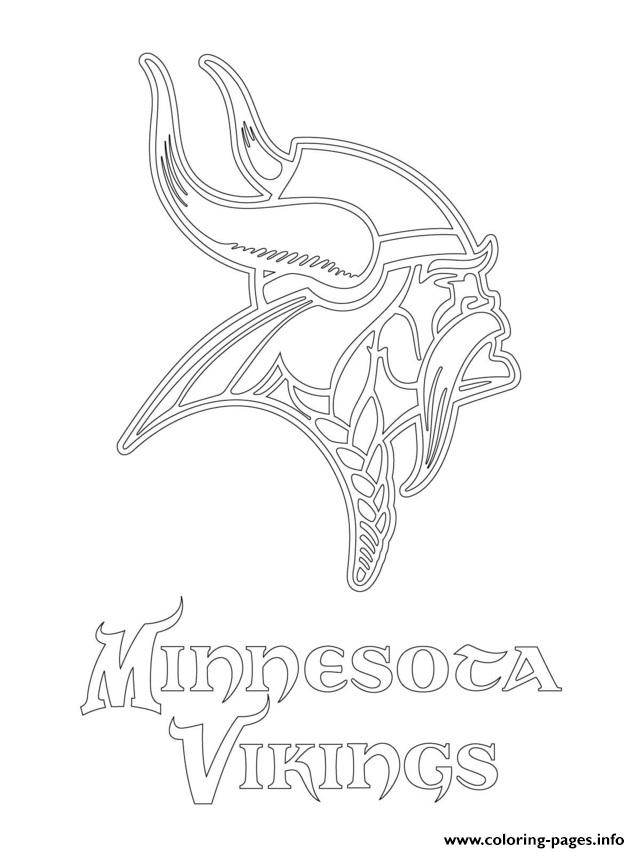 Minnesota Vikings Logo Football Sport coloring pages