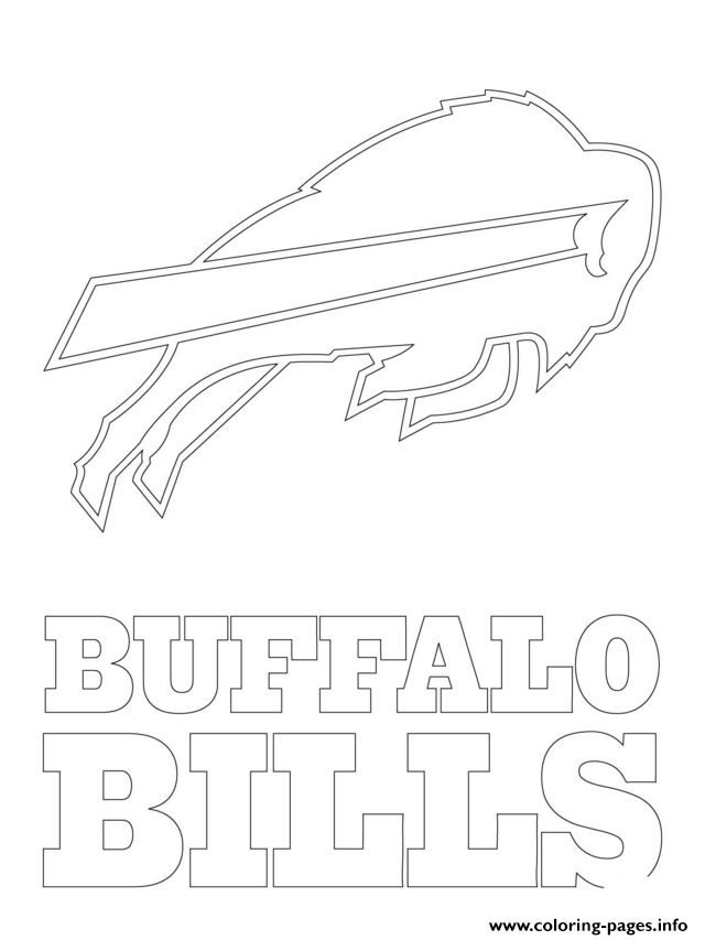 buffalo coloring page - buffalo bills logo football sport coloring pages printable