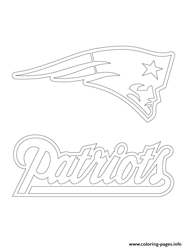 new england patriots logo football sport coloring pages printable